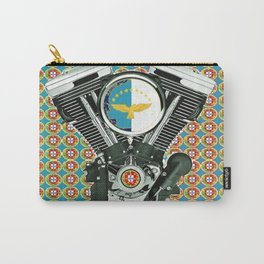 Blue Portuguese flag collage Carry-All Pouch