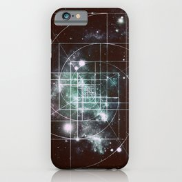 Galaxy Sacred Geometry: Golden Mean dark iPhone Case