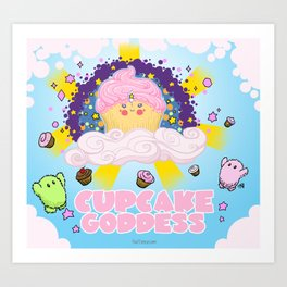 Cupcake Goddess Art Print