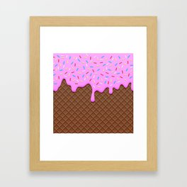 Chocolate and Strawberry Icecream Framed Art Print