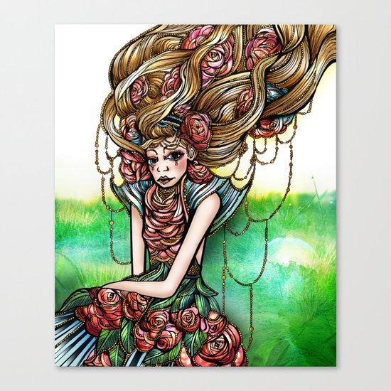 Astrology Illustration Series-Virgo Canvas Print