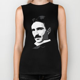 Nikola Tesla Biker Tank