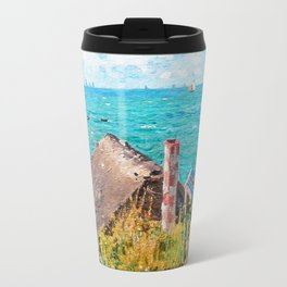 Claude Monet The Cabin At Saint-Adresse Travel Mug
