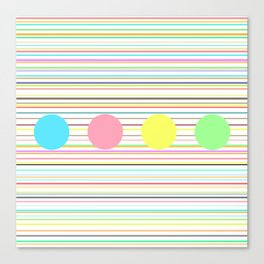 Notes and sound Canvas Print
