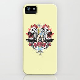 Pin Up Girl - Car Show No.01 iPhone Case