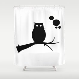 the owl awake Shower Curtain