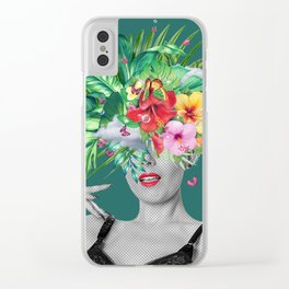 portriat floral Clear iPhone Case