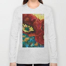 Three Poppies by Lena Owens @OLena Art #Society6 Long Sleeve T-shirt