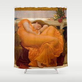 FLAMING JUNE - FREDERIC LEIGHTON Shower Curtain