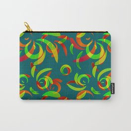 Pattern of colored doodles and curls in floral ornament in ethnic style. Carry-All Pouch