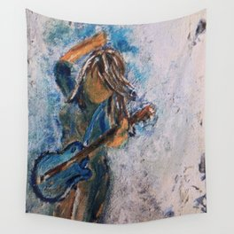 rock and roll goddess Wall Tapestry