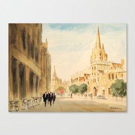 Oxford High Street Canvas Print