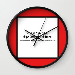 Art & Life For The Modern Times Wall Clock