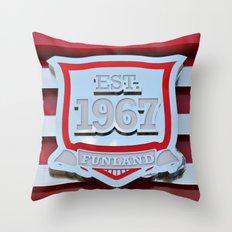 1967 Funland Throw Pillow