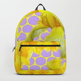 ABSTRACT YELLOW SPRING IRIS GOLDEN DAFFODILS FRAME Backpack