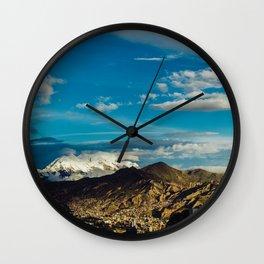 Mountain of La Paz Wall Clock
