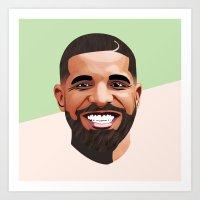 Aubrey Graham Art Print