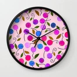 cherry-berrie jumble ... Wall Clock