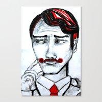 gentleman Canvas Prints featuring gentleman by sladja