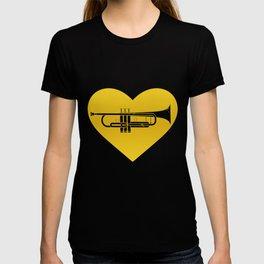 Trumpet Heart Musician Trumpeter Jazz T-shirt
