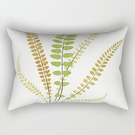 Asplenium Trichomanes (Maidenhair Spleenwort) from Ferns British and Exotic (1856-1860) by Edward Jo Rectangular Pillow