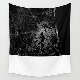 Jacksonville map Wall Tapestry