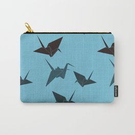 Blue origami cranes Carry-All Pouch