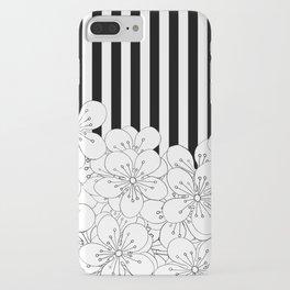 Cherry Blossom Stripes - In Memory of Mackenzie iPhone Case
