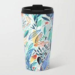 Jungle Leaves Metal Travel Mug