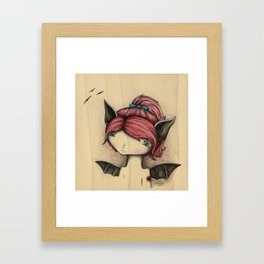 Bat Girl Framed Art Print