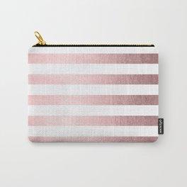 Simply Striped Rose Quartz Elegance Carry-All Pouch