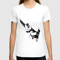 snowboarding T-shirts featuring Snowboarding Design by Cwilwol