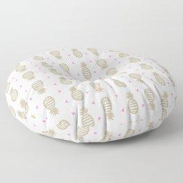 Golden pineapple pattern Floor Pillow