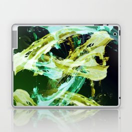 Green and Gold Expressionism Laptop & iPad Skin