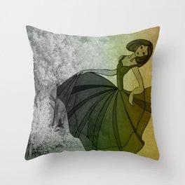 vintage dance - winter Throw Pillow