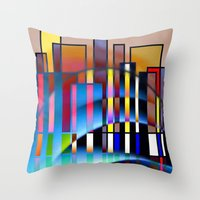 seattle Throw Pillows featuring Seattle by Kristine Rae Hanning