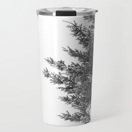 B&W Spruce Branches Travel Mug