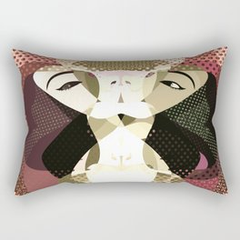 A red-haired woman - Abstrac35 Rectangular Pillow