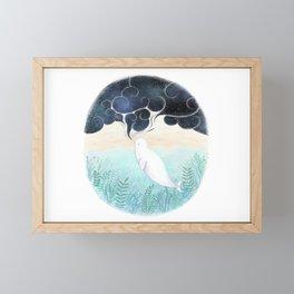 Beluga Dreams Framed Mini Art Print