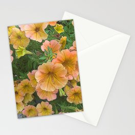 Peach and Pink Petunias Stationery Cards