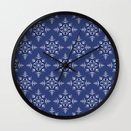 Paper Cut Snowflake Pattern Wall Clock