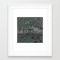 las vegas Framed Art Prints featuring las vegas by Bekim ART