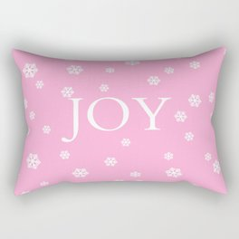 Winter Joy - pink - more colors Rectangular Pillow