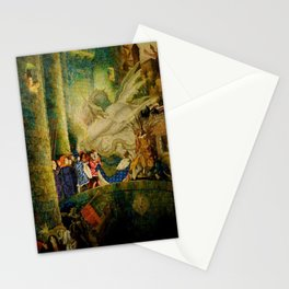 Sleeping Beauty The Aged King Pleads with the Good-Fairy Fairy Tale Portrait by Leon Bakst Stationery Cards