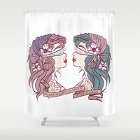 gypsy Shower Curtains featuring Gypsy by Pilotinta