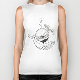 Planets Are Toys (whales) Biker Tank
