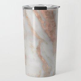 Civezza rose gold marble quartz Travel Mug