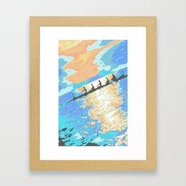 Rowing at dawn Framed Art Print