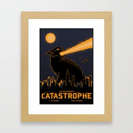 Cat-astrophe Framed Art Print