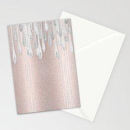Rose Gold Marque Diamond Drips Fashion Designer Studio Model  Stationery Cards